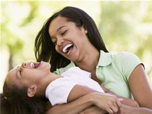 Mother-and-daughter-laughing