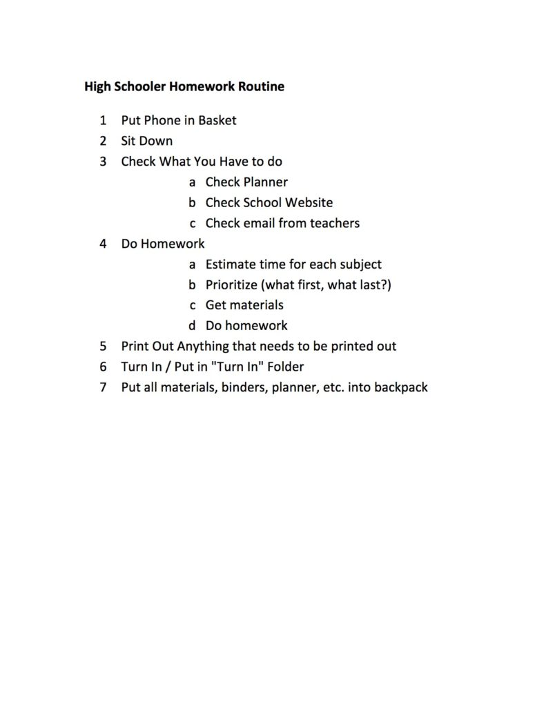 high-schooler-homework-routine
